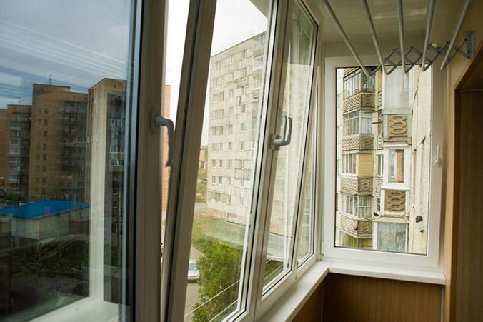 Балкон поворотно-откидной, профиль kbe ваши окна - производс.